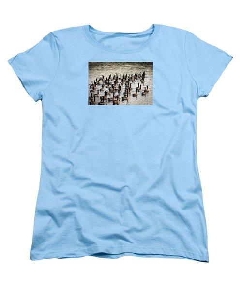 Geese In Sunset Light Women's T-Shirt (Standard Cut) by Menachem Ganon