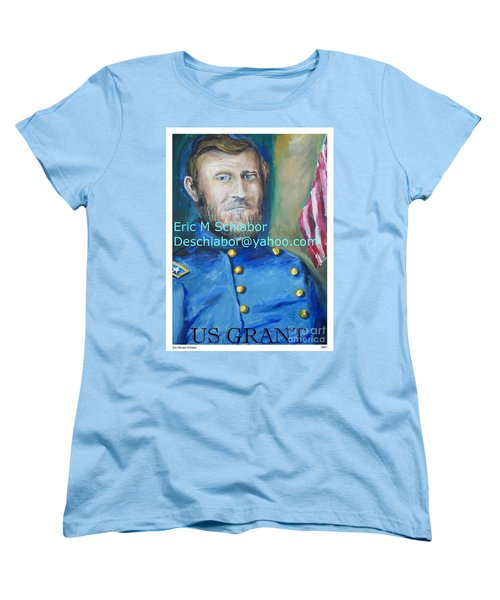 Women's T-Shirt (Standard Cut) featuring the painting General Us Grant  by Eric  Schiabor