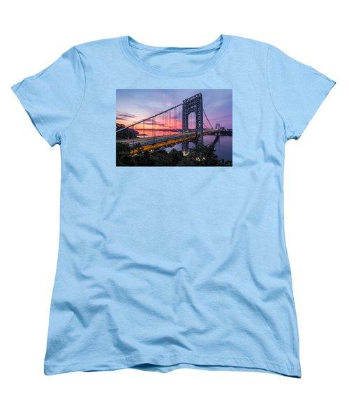 George Washington Bridge Women's T-Shirt (Standard Cut) by Mihai Andritoiu
