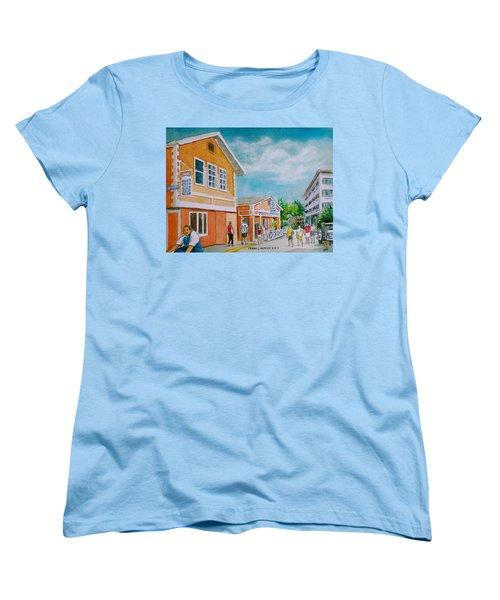 Georgetown Grand Cayman Women's T-Shirt (Standard Cut) by Frank Hunter