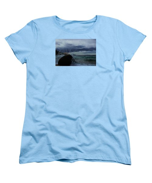 Women's T-Shirt (Standard Cut) featuring the photograph Get Splashed by Sean Sarsfield
