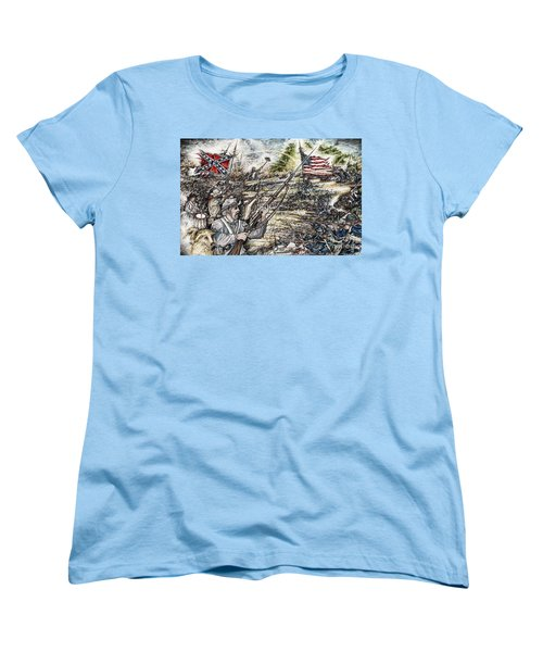 Gettysburg Ash's At The Angle Women's T-Shirt (Standard Cut) by Scott and Dixie Wiley