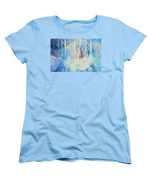 Women's T-Shirt (Standard Cut) featuring the painting Ghost Forest by Teresa Ascone