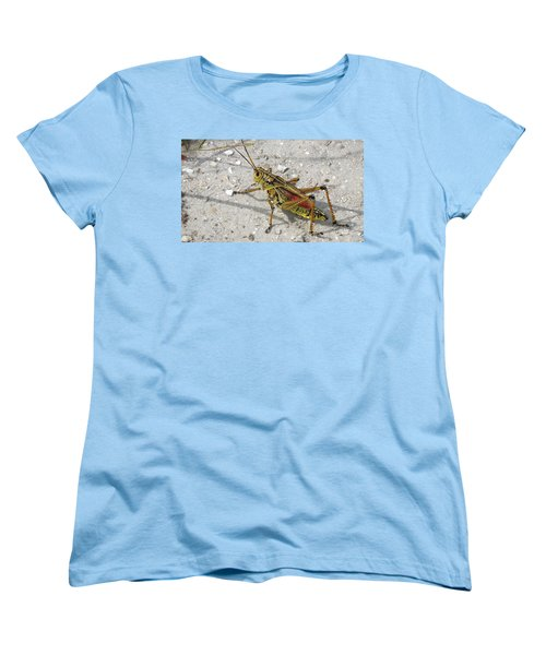Women's T-Shirt (Standard Cut) featuring the photograph Giant Orange Grasshopper by Ron Davidson