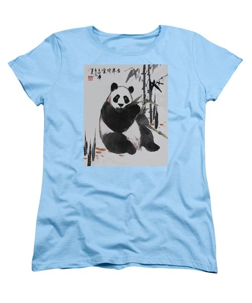 Giant Panda Women's T-Shirt (Standard Cut) by Yufeng Wang