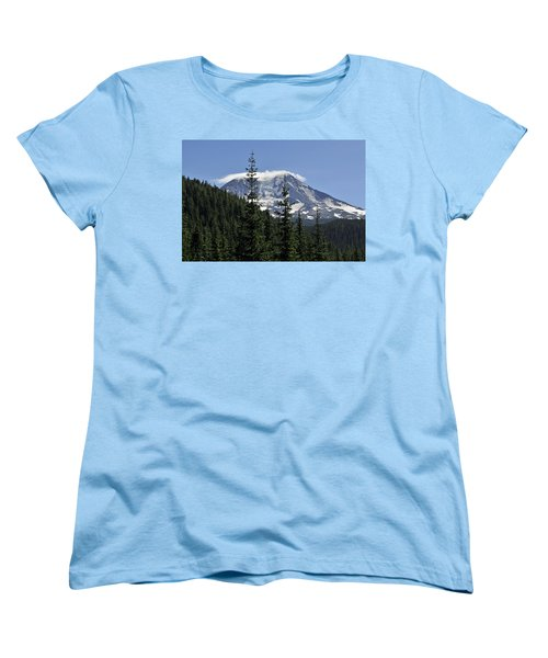Gifford Pinchot National Forest And Mt. Adams Women's T-Shirt (Standard Cut) by Tikvah's Hope