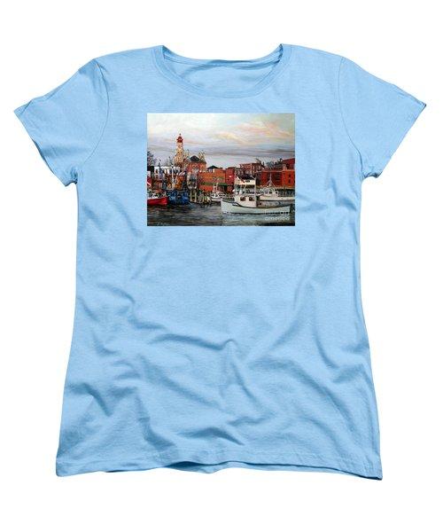 Gloucester Harbor Women's T-Shirt (Standard Cut) by Eileen Patten Oliver