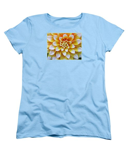 Glowing Dahlia Women's T-Shirt (Standard Cut) by Dora Sofia Caputo Photographic Art and Design