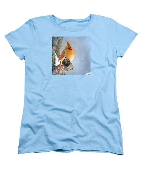 Glowing In The Snow Women's T-Shirt (Standard Cut) by Nava Thompson