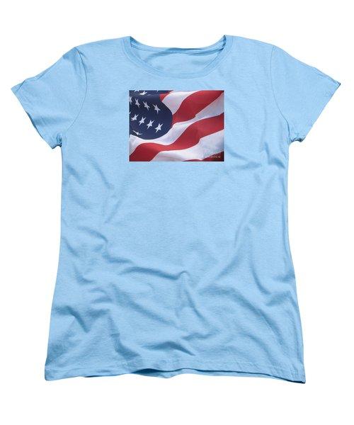 Women's T-Shirt (Standard Cut) featuring the photograph God Bless America by Chrisann Ellis