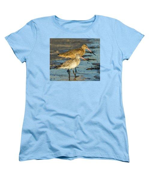 Godwits Women's T-Shirt (Standard Cut) by Jane Luxton