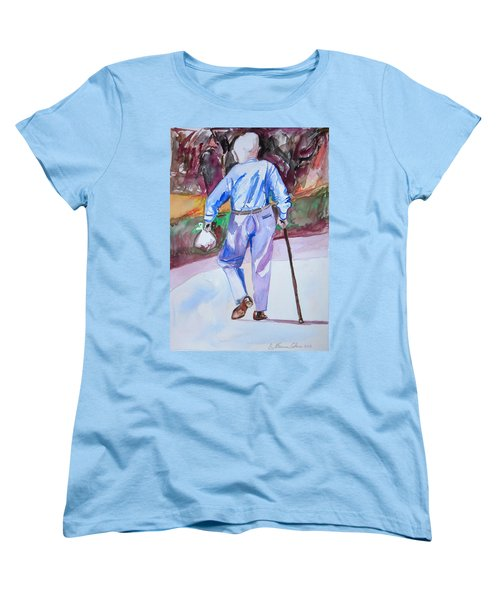 Women's T-Shirt (Standard Cut) featuring the painting Going Home by Esther Newman-Cohen