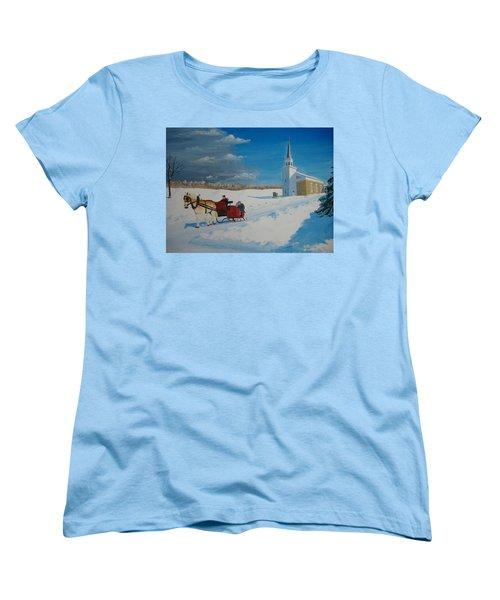 Going Home From Church Women's T-Shirt (Standard Cut) by Norm Starks