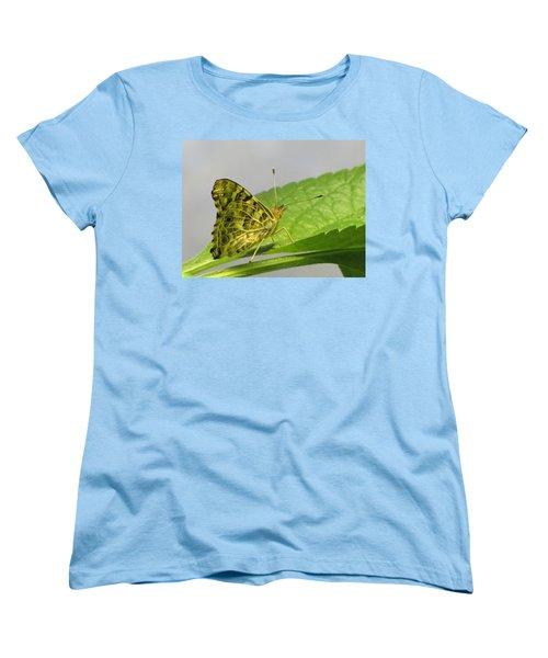 Gold And Green  Women's T-Shirt (Standard Cut) by Jennifer Wheatley Wolf