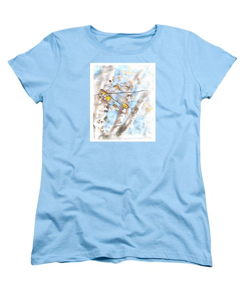 Golden Birch Women's T-Shirt (Standard Cut) by Caitlyn  Grasso