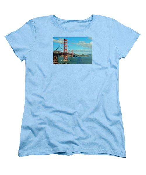 Golden Gate Bridge Women's T-Shirt (Standard Cut) by Emmy Marie Vickers
