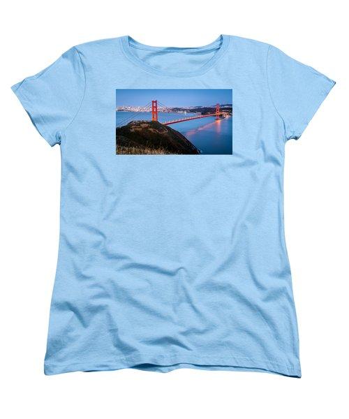 Women's T-Shirt (Standard Cut) featuring the photograph Golden Gate Bridge by Mihai Andritoiu
