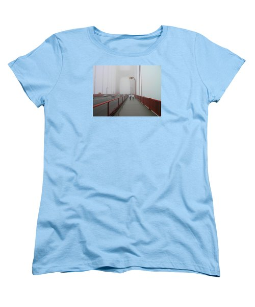 G. G. Bridge Walking Women's T-Shirt (Standard Cut) by Oleg Zavarzin