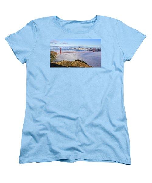 Golden Gate Women's T-Shirt (Standard Cut) by Dave Files