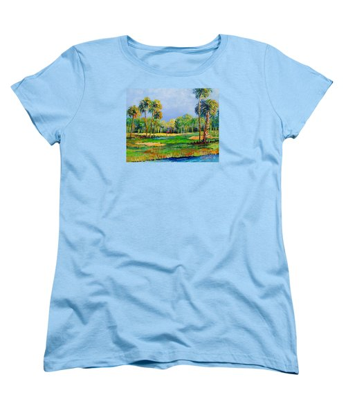 Golf In The Tropics Women's T-Shirt (Standard Cut) by Lou Ann Bagnall