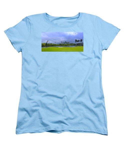 Golfer's Paradise Women's T-Shirt (Standard Cut) by Stephen Anderson