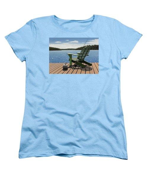 Gone Fishing Women's T-Shirt (Standard Cut) by Kenneth M  Kirsch