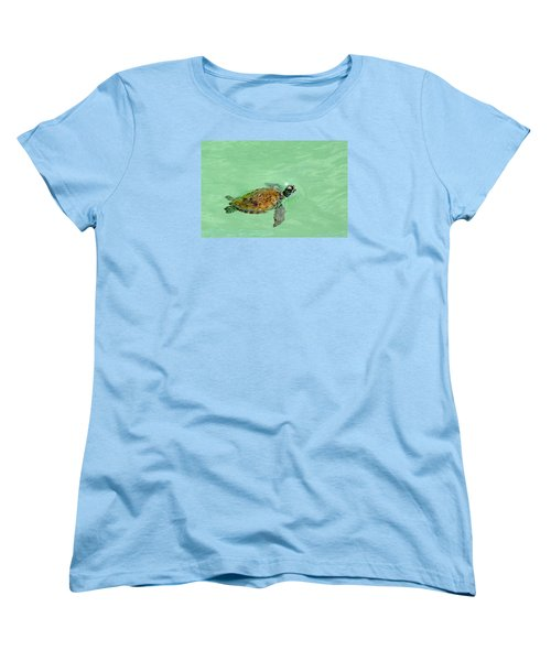 Women's T-Shirt (Standard Cut) featuring the photograph Good Day For A Swim  by Susan  McMenamin