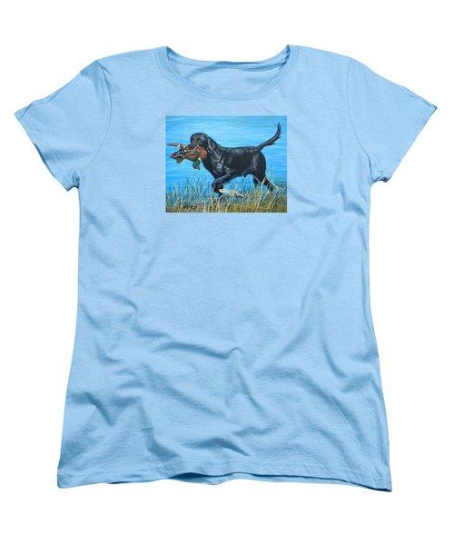 Good Dog Women's T-Shirt (Standard Cut) by Jeanette Jarmon