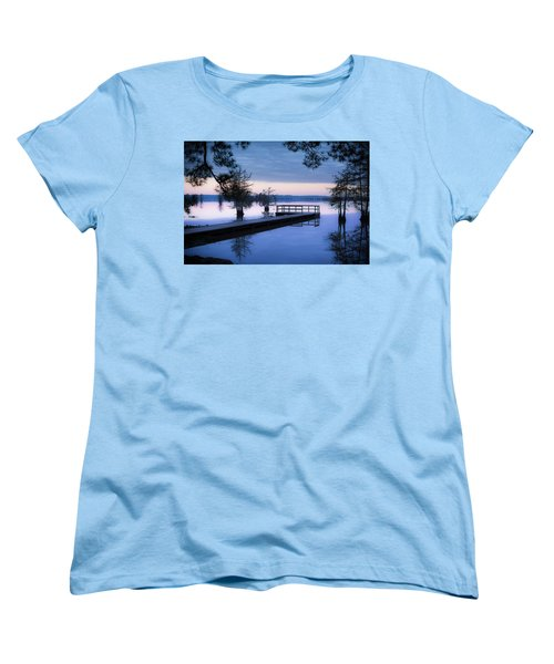Good Morning For Fishing Women's T-Shirt (Standard Cut) by David Morefield