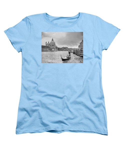 Women's T-Shirt (Standard Cut) featuring the painting Grand Canal Venice Italy by Georgi Dimitrov