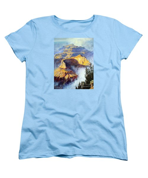 Grand Canyon View Women's T-Shirt (Standard Cut) by Lee Piper