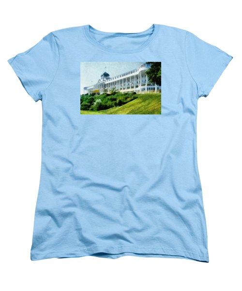 Grand Hotel Mackinac Island Ll Women's T-Shirt (Standard Cut) by Michelle Calkins