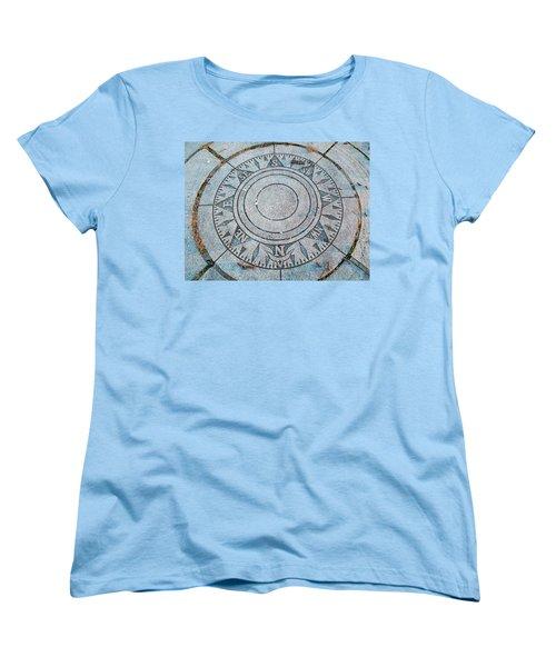 Women's T-Shirt (Standard Cut) featuring the photograph Granite Compass by Barbara McDevitt