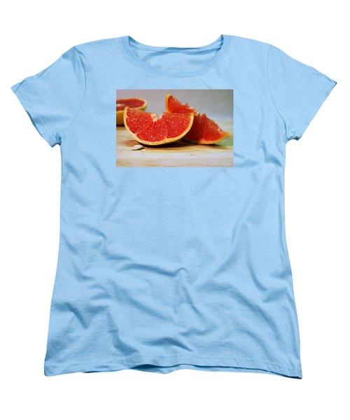 Grapefruit Slices Women's T-Shirt (Standard Cut) by Joseph Skompski