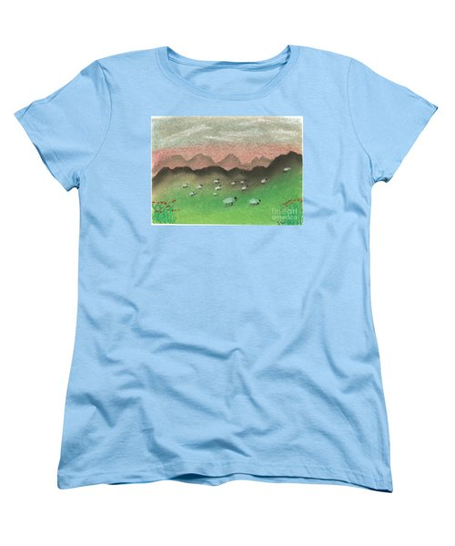 Grazing In The Hills Women's T-Shirt (Standard Cut) by Tracey Williams