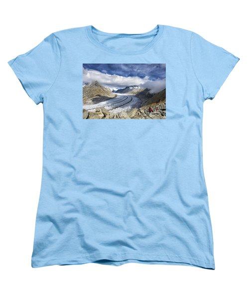 Great Aletsch Glacier Swiss Alps Switzerland Europe Women's T-Shirt (Standard Cut)