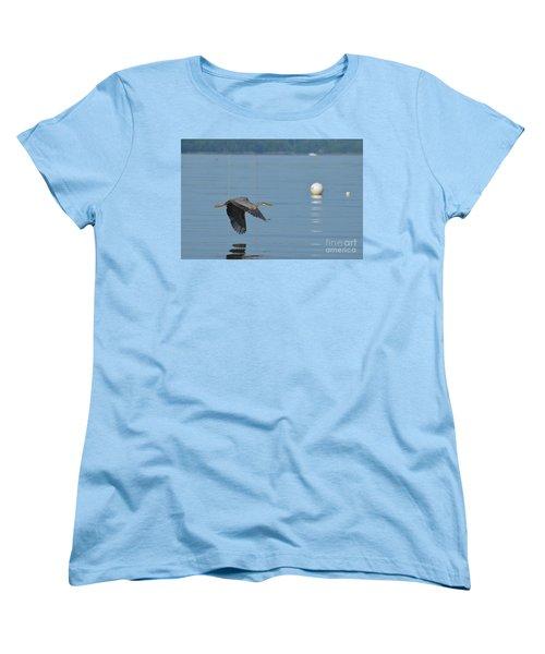 Great Blue Heron  Women's T-Shirt (Standard Cut) by DejaVu Designs
