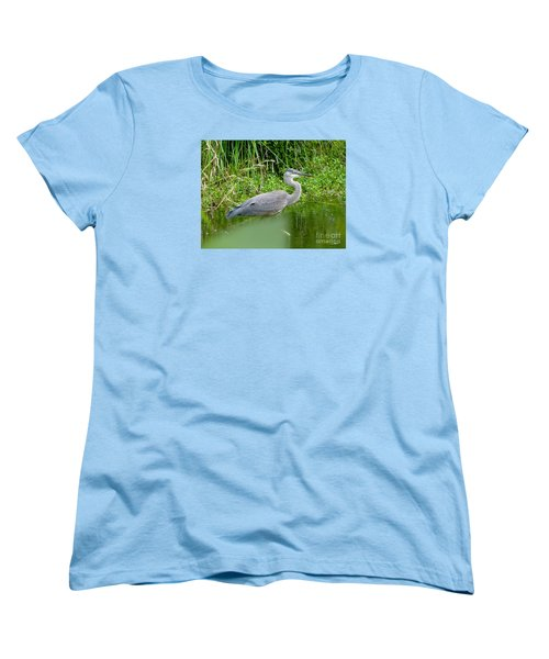 Women's T-Shirt (Standard Cut) featuring the photograph Great Blue Heron  by Susan Garren