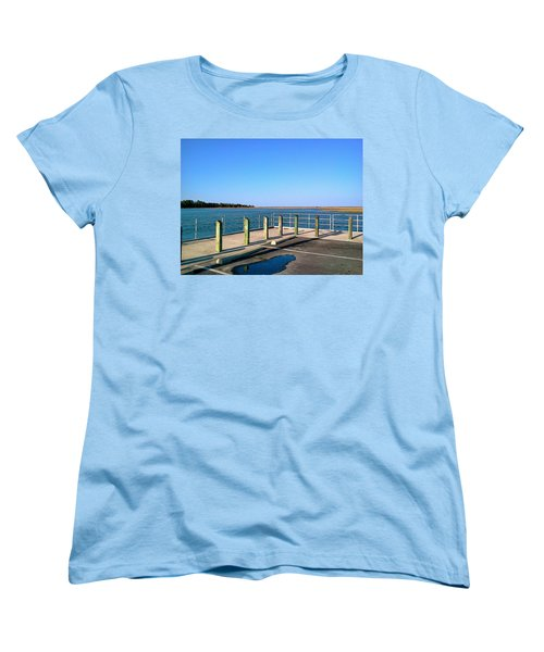Great Day For Fishing In The Marsh Women's T-Shirt (Standard Cut) by Amazing Photographs AKA Christian Wilson