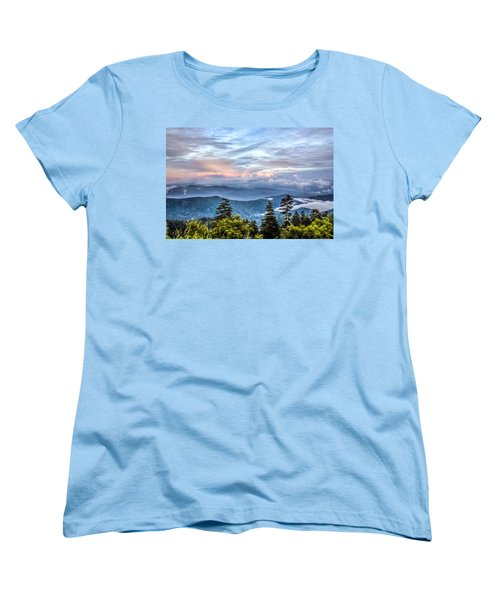 Women's T-Shirt (Standard Cut) featuring the photograph Great Smoky Mountains by Rob Sellers