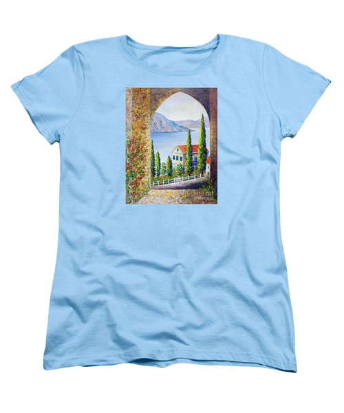 Greek Arch Vista Women's T-Shirt (Standard Cut) by Lou Ann Bagnall