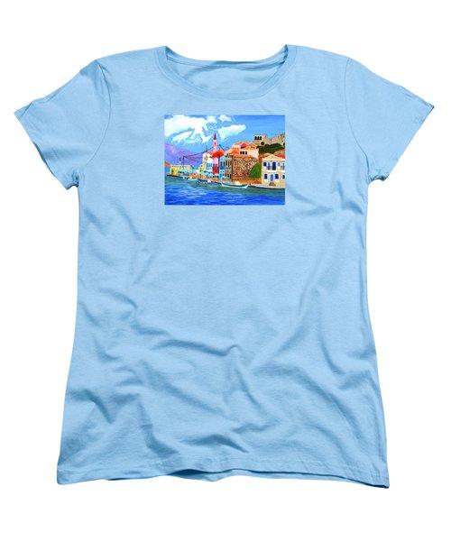 Greek Coast Women's T-Shirt (Standard Cut) by Magdalena Frohnsdorff