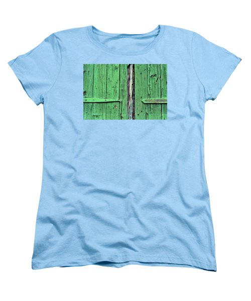 Green Door Women's T-Shirt (Standard Cut) by Steve Archbold
