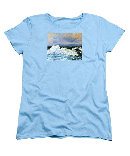 Women's T-Shirt (Standard Cut) featuring the painting Green-eyed Monster by Michael Helfen