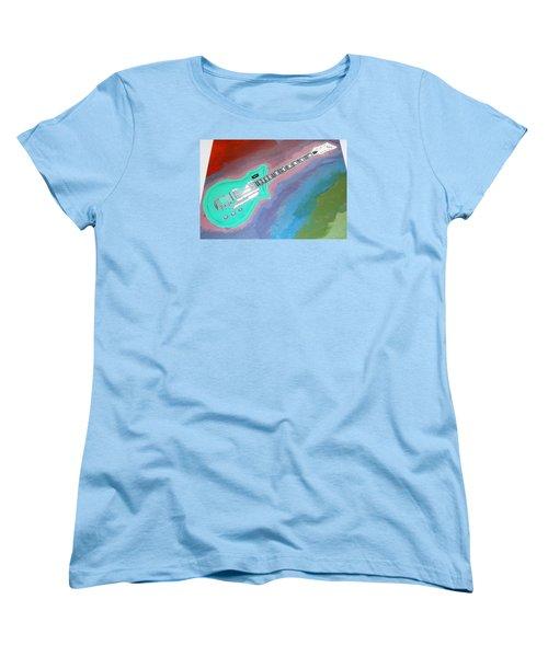 Green Guitar Women's T-Shirt (Standard Cut) by Magdalena Frohnsdorff