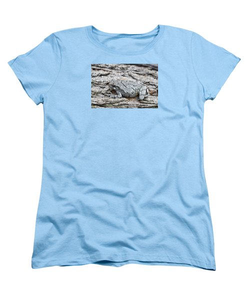 Women's T-Shirt (Standard Cut) featuring the photograph Cope's Gray Tree Frog by Judy Whitton