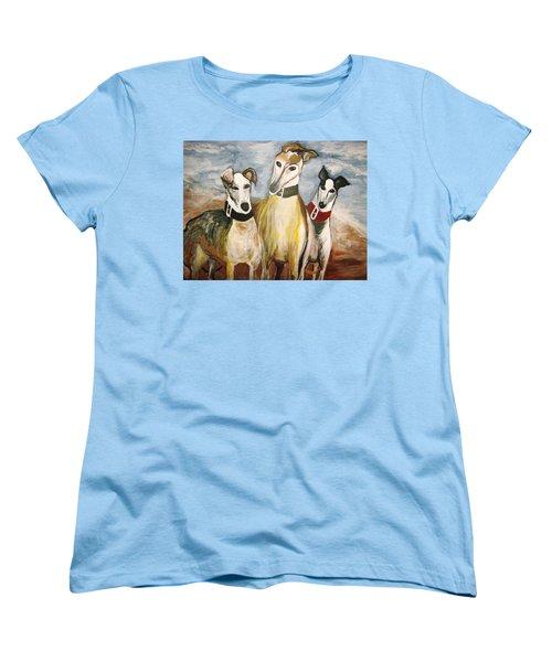 Greyhounds Women's T-Shirt (Standard Cut) by Leslie Manley