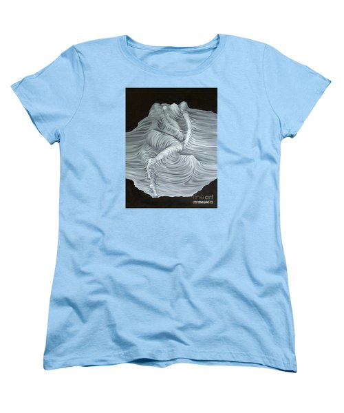 Women's T-Shirt (Standard Cut) featuring the painting Greyish Revelation by Fei A
