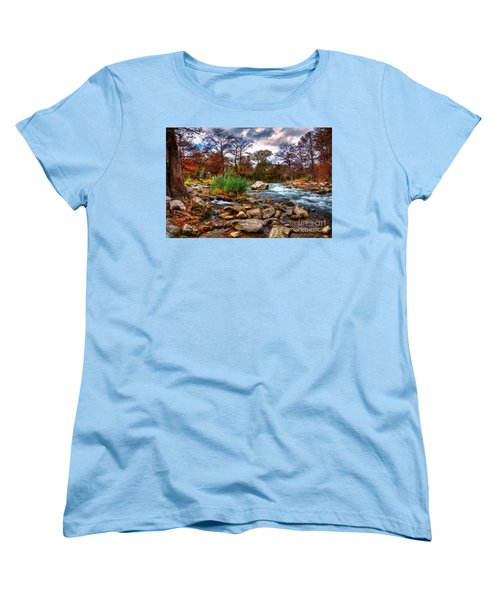 Guadalupe In The Fall Women's T-Shirt (Standard Cut) by Savannah Gibbs