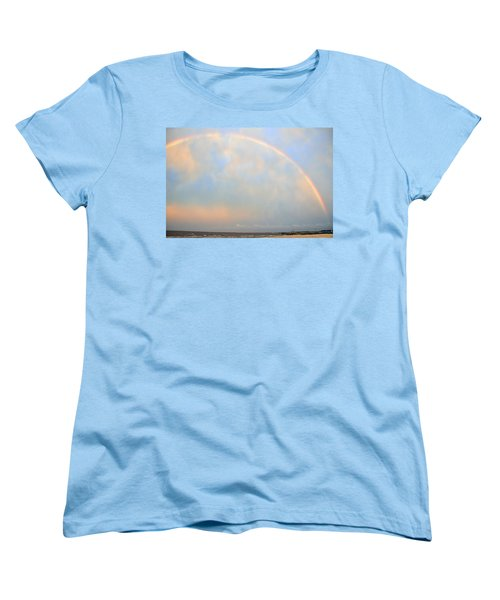Women's T-Shirt (Standard Cut) featuring the photograph Gulf Coast Rainbow by Charlotte Schafer